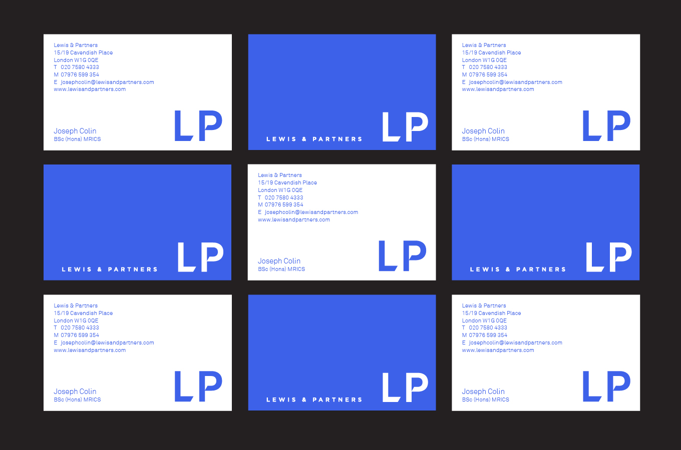 Lewis & Partners business cards